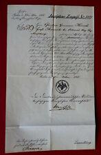 1865 PHARMAZIE-ZEUGNIS