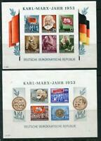Germany 1953 2 Souvenir Sheets Mi Block8-9B Sc144a,146a CV €240 Imperf MNH G1240