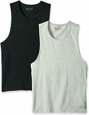 UnderArmor Ua Mens Sz 4Xl Charged Cotton 2-pk Undershirt Tank Jet Gray & Gray