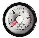 Pyrometer kit ISSPRO Dodge Cummins White Face-Red Pointer