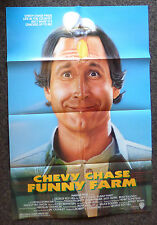 FUNNY FARM 1988 ORIGINAL 1 SHEET MOVIE POSTER CHEVY CHASE COMEDY