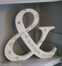 Freestanding personalised ampersand & they lived happily ever after wedding gift