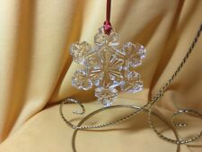 Waterford Crystal Snowflake Ornament with Hanging Ribbon - New