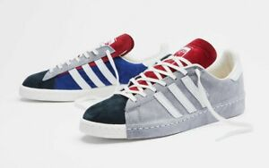 New Adidas Campus 80s x Recouture Shoes Athletic Casual Skate Grey-White-Black