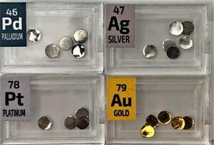 Gold Platinum Palladium Silver Metal 1 Grain (Not Gram) 99.9% Pure Disk Bullion