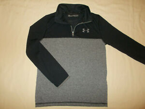 UNDER ARMOUR THREADBORNE 1/4 ZIP LONG SLEEVE GRAY SHIRT BOYS MEDIUM EXCELLENT