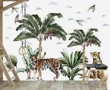 Jungle Tree Plants Animals Kids Wall Stickers Baby Room Decor Nursery Decal Art