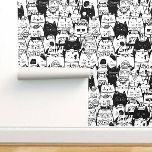 Removable Water-Activated Wallpaper Cats Kittens Kitty Cat Cute Cat Adorable
