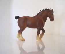 VTG 1972-86) BREYER TRADITIONAL~CLYDESDALE #80 DRAFT HORSE~BAY~Red & White Bobs