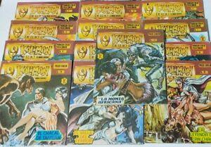 "Kaliman De Lujo, Mexican Comic, Spanish, In Color, Lot Of 13 & figure 4.5"""