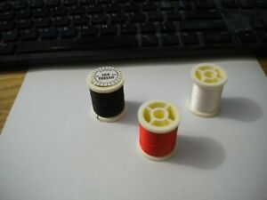6 Spools of Danville Japanese Silk Fly Tying Thread in 3 Colors