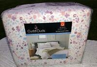 Cuddl Duds Queen Sheet Set Heavyweight Flannel Floral 100% Cotton NEW    JN19