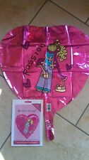 """BANG ON THE DOOR PASSION 18"""" FOIL HELIUM BALLOON  HART SHAPED NEW SEALED"""