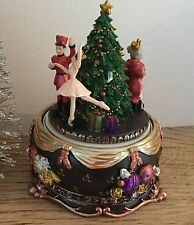 Resin Nutcracker Revolving Music Box Ballet Gisela Graham Christmas Gift Vintage