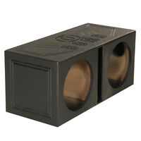 Q Power QBOMB8V Dual 8 Inch Vented Port Subwoofer Sub Box with Bedliner Spray