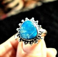 BLUE NATURAL AUSTRALIAN OPAL  925 STERLING SILVER RING