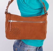 FURLA ITALY Small Orange  Leather Shoulder Hobo Tote Satchel Purse Bag