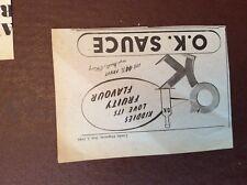 g1f 1948 advert ok sauce fruity