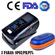 OLED SPO2 PR PI % Finger Tip Pulse Oximeter Oxymeter Blood Oxygen Monitor +Case