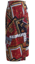 Ruff Hewn Women's Wrap Skirt Equestrian Horses 100% Cotton Made in USA Size 8
