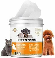 150 Pads Pet Eye Wipes,Eye Tear Stain Remover Wipes for Cats & Dogs,Eye Crust Tr
