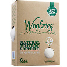 Woolzies 6 XL Wool Dryer Balls Natural Fabric Softener Laundry & Baby safe