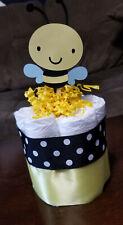 Mini Diaper Cake - Sweet as Can Bee Bumble Bee Theme Diaper Cake