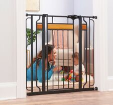Indoor Dog Gate Security Pet Door Fence Tall Walk Thru Animal Safety Baby Safety
