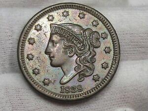 AU/UNC 1838 Coronet Head Large Cent.  #61