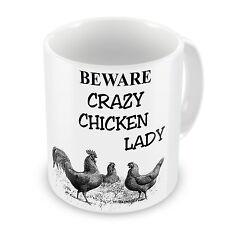 Crazy Chicken Lady Novelty Gift Mug