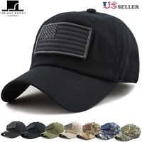 Low Profile Tactical Operator with USA Flag Patch Buckle Cotton Cap 1007