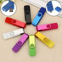 2in1 16GB USB 2.0 Flash Drive Memory Stick U Disk for OTG Phone Laptop JR