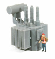 HO Scale Railroad High Voltage Oil Filled Power Transformer Model [High Panel]