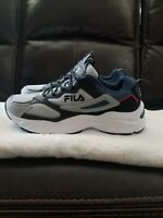 Fila Recollector Men's Sneaker Shoes Grey/Black/Blue multiple sizes 10, 10.5, 11