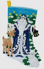 Winter Santa~Felt Christmas Stocking Kit~New Release Factory Direct