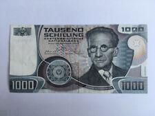 """1000 SCHILLING SCHEIN, ERWIN SCHROEDINGER, 1983, ERHALTUNGSGRAD II = """"VORZÜGLICH"""