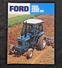 GENUINE 1979 1980 FORD 4100 4600 SU TRACTOR BROCHURE CATALOG VERY GOOD SHAPE
