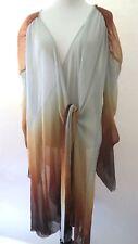 Zara Women's Dress Metallic Pleated Sheer Long Sleeve Size M