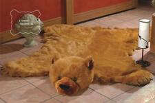 Ecology Fake Faux Fur Brown Forest BEAR skin plush RUG SIZE 77x61inch with head