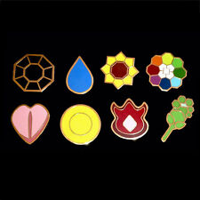 8Pcs Pokemon Gym Badge Kanto League Pin Brooch Cosplay Gift Collector Set Gen 1