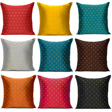 Cushion Cover Art Silk IndianThrow Pillow Cover Sofa Pillowcase Christmas Decor