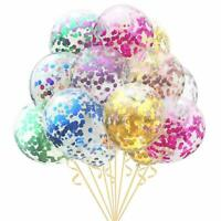 """10 Pack Confetti Balloons Latex 12"""" Decorations Helium Birthday Party Wedding"""