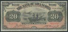 Canada Bank Of Nova Scotia #550-28-22 $20 1929 Halifax Fne (Bcs Vg 10) Wlm4995