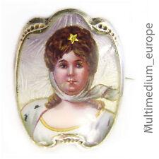 Königin Luise von Preußen Brosche Emaille Jugendstil