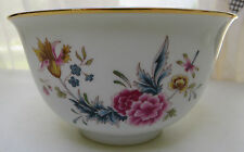 """Avon American Heirloom Independence Day 1981 Porcelain Bowl Dragonfly Flowers 6"""""""