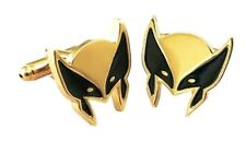 Marvel Comics Wolverine Mask Logo Cosplay Novelty Metal Enamel Cuff Links