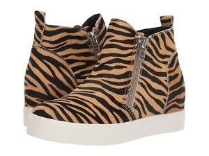 Steve Madden Wedgie-L Tiger-Print Wedgie Sneakers, Multiple Sizes Tiger WEDG05S1