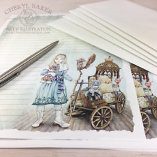 Alice Wonderland Stationery Paper Set Stationary Writing Paper Gifts for Writers