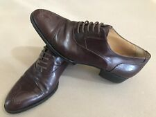 Bally Gino Italy Oxford Perf Cap Sz 6 ½ D Burgundy-Oxblood Dress Shoes