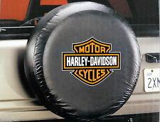 Harley Davidson Bar and Shield Orange  Logo Spare Tire Cover Truck Jeep SUV 4x4